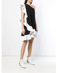 Robe asymétrique à volants Givenchy en coloris Black
