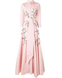 Carolina Herrera フローラル フレアドレス Pink