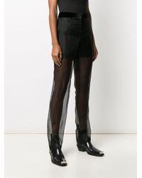 Pantalones translúcidos de talle alto Helmut Lang de color Black