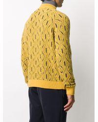 メンズ Missoni ケーブルニット セーター Yellow