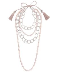 Night Market - Multicolor Pearl And Bead Layered Necklace - Lyst