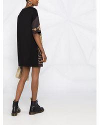 Vestito corto con stampa di Versace Jeans in Black