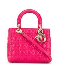 Dior Lady Dior Cannage 2way ハンドバッグ Pink