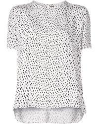 Adam Lippes プリント Tシャツ White