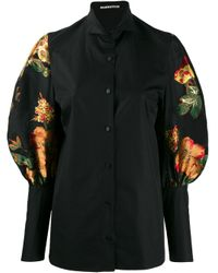 Camicia con maniche a palloncino di Aganovich in Black