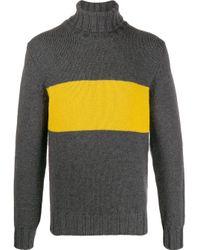メンズ Lardini カラーブロック セーター Multicolor