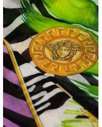 Versace Jungle Animalier プリント スカーフ Black