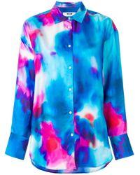MSGM タイダイシャツ Blue