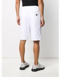 メンズ Les Hommes ロゴ トラックショーツ White