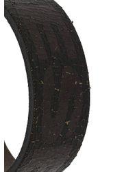 DIESEL Armband mit Logo in Brown für Herren