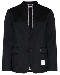 Thom Browne Blue Deconstructed Tailored Blazer for men