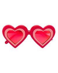 """Солнцезащитные Очки Формы """"сердечки"""" Yazbukey, цвет: Red"""