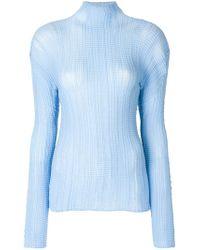 Issey Miyake Blue Roll Neck Sweater
