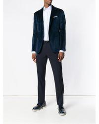 Etro Blue Classic Fit Shirt for men