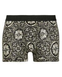 メンズ Dolce & Gabbana プリント ボクサーパンツ Black