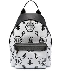 Рюкзак С Тисненой Монограммой Philipp Plein для него, цвет: White