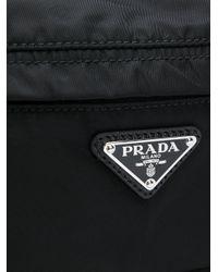 メンズ Prada ロゴプレート ショルダーバッグ Black