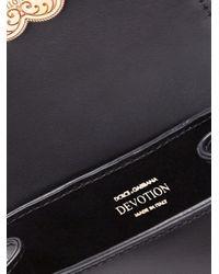 Borsa a spalla Devotion di Dolce & Gabbana in Black