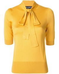 Dolce & Gabbana ボウタイ ブラウス Yellow