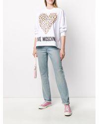 Толстовка Оверсайз С Логотипом Love Moschino, цвет: White