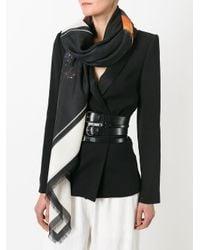 Givenchy ロットワイラー プリントスカーフ Black