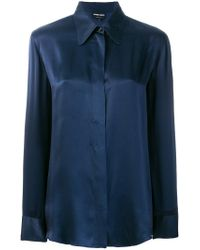 Giorgio Armani Blue Classic Shirt