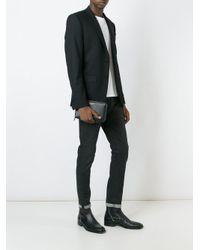 Petite pochette classique Saint Laurent pour homme en coloris Black