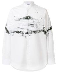Camicia con stampa di Neil Barrett in White da Uomo
