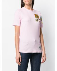 DSquared² Pink Patch T-shirt