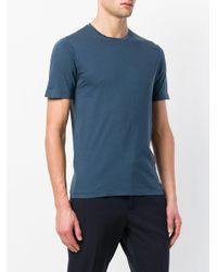 Zanone Blue Crew Neck T-shirt for men