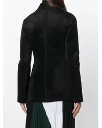 Ferragamo Black Fitted Single Breasted Jacket