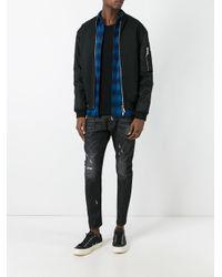 DSquared² - Black Tidy Biker Chain Trim Jeans for Men - Lyst