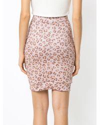 Leopard Print Skirt Amir Slama, цвет: Pink