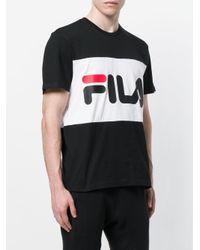 Fila Black Logo Print T-shirt for men