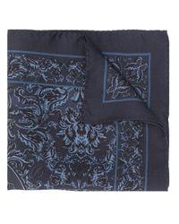 メンズ Dolce & Gabbana バロックプリント スカーフ Blue
