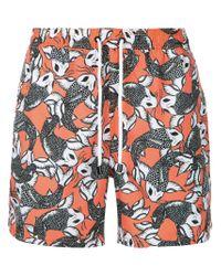 The Upside Orange Sea Of Koi Swim Shorts for men