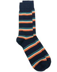 Paul Smith - Blue Striped Socks for Men - Lyst