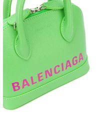 Balenciaga Xxs Ville Aj グレインレザーバッグ Green