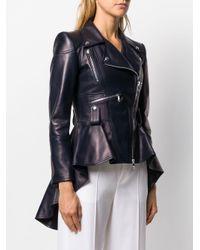 Байкерская Куртка С Баской Alexander McQueen, цвет: Blue