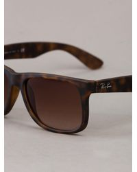 Ray-Ban | Brown Marbled Sunglasses | Lyst