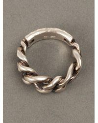 Werkstatt:münchen - Metallic Werkstatt:münchen Chainlink Ring for Men - Lyst