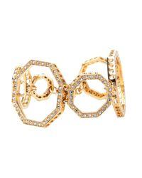 Ca&Lou | Metallic Octagonal Link Bracelet | Lyst