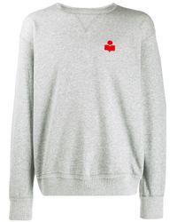 Logo print sweatshirt Isabel Marant pour homme en coloris Gray