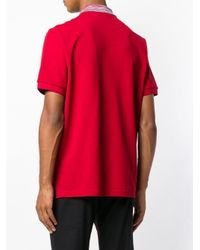 メンズ Missoni コントラストカラー ポロシャツ Red