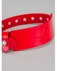McQ | Red Logo Embossed Bracelet | Lyst