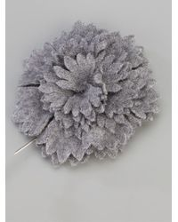 Lanvin | Gray Floral Boutonniere for Men | Lyst
