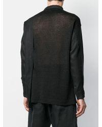 メンズ Isabel Benenato リラックスフィット シャツ Black