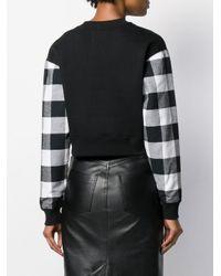Толстовка Со Вставками В Клетку Calvin Klein, цвет: Black