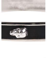 Alexander McQueen - Black Skull Bangle - Lyst