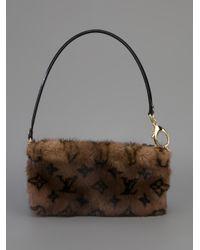 Louis Vuitton Brown Mink Fur Shoulder Bag